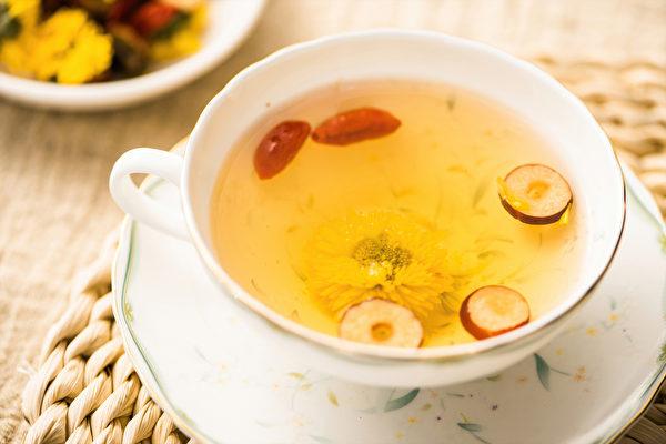 平时按眼周穴位、喝枸杞菊花茶,改善近视眼。(Shutterstock)