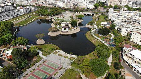 屏东万年公园空拍照。