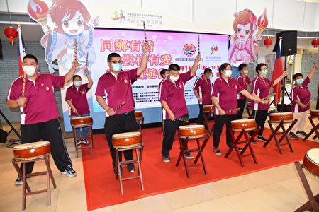 记者会社团法人云林县身心照护协会带来精彩的太鼓表演。