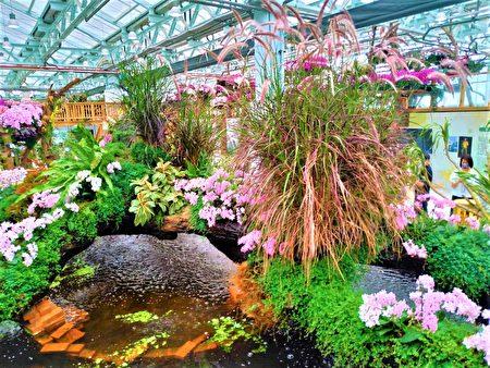 智農館大型花藝裝置。