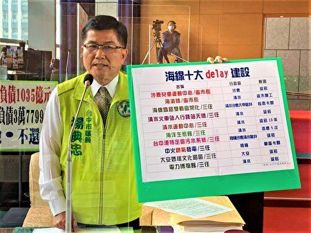 议员杨典忠指出,从报告中发现,原来海线的建设都在delay中。