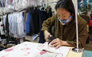 缝纫店亚裔老板  免费送出1万个手工口罩