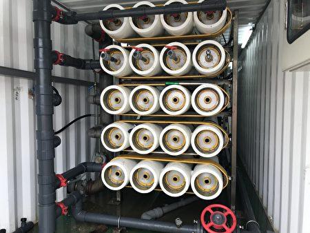 北水局多產水,新竹緊急海淡機組提高產水量。