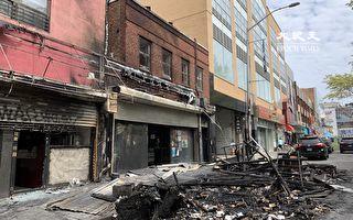法拉盛40路戶外用餐木屋  被人縱火焚毀