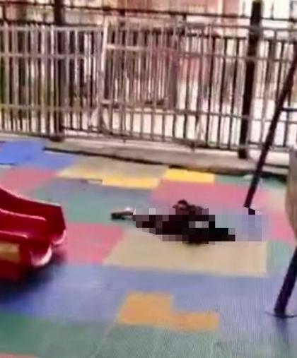 4月28日下午,广西玉林北流市新丰镇一幼儿园发生砍人事件。图为幼儿园现场。(微博图片)