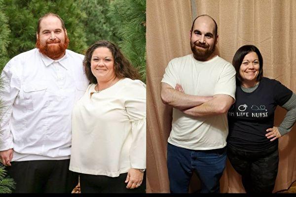 美国夫妇调整饮食共减重三百磅 重获健康