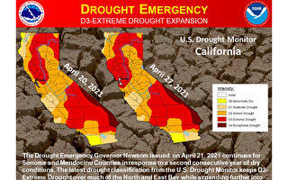 最新數據:灣區大部分地區極度乾旱