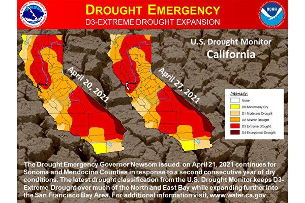 最新数据:湾区大部分地区极度干旱