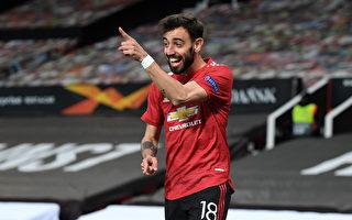 组图:欧联杯半决赛首回合 曼联6:2大胜罗马