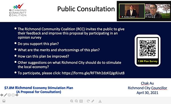 圖:列治文社區聯盟RCC提出了一個全新方案:發放社區消費券,以彌補COVID-19給家庭和小商家帶來的損失。(RCC提供)
