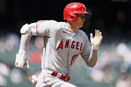 MLB大谷遭球吻后双盗垒  天使遭水手完封