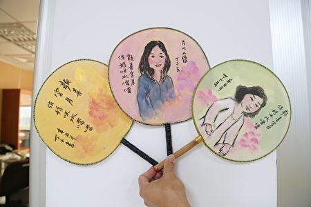 葫蘆墩文化中心母親節現場人像作畫活動。
