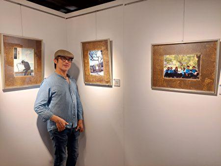竹東高中美術老師張澤平,展出作品主題環繞著校園風景及學生圖像,不刻意突顯攝影的技巧,甚至有些作品僅以手機代勞,僅求構圖及光影的捕捉,完整保留校園生活足跡。