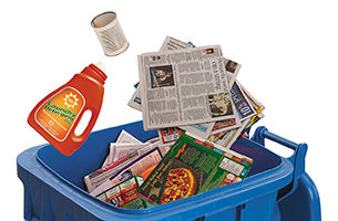 藍桶回收和社區回收站
