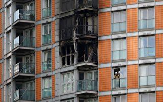 组图:英国伦敦大楼大火 至少2人送医治疗