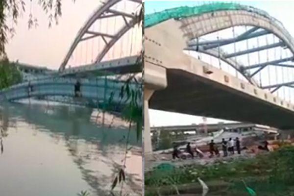 豆腐渣?紹興投資最大高速路橋梁未完工就坍塌