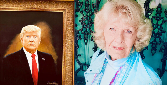 美國88歲業餘老畫家:我是愛國者