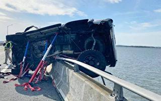 車禍致2歲娃甩飛墜海 陌生男急躍下高橋救援
