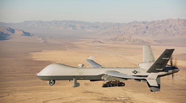 2020年1月14日,一架MQ-9无人机飞越内华达州的测试训练场。(美国空军)