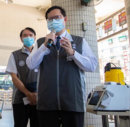 桃園市長鄭文燦15日下午3點宣布,桃園市防疫進入「準三級警戒」。
