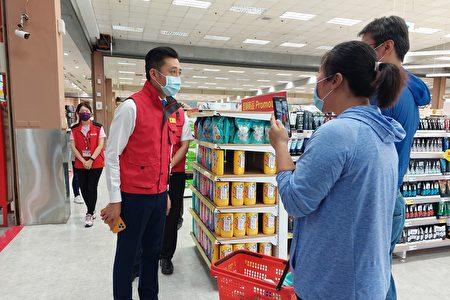 新竹市长林智坚对于民众无恐慌购买的情况,且主动配合防疫措施,持高度肯定。