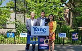 楊安澤與市議員參選人黃敏儀、李真  互相背書