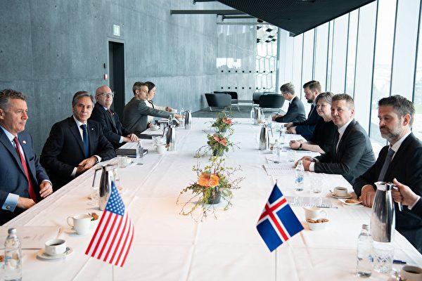 组图:美国国务卿布林肯访问冰岛