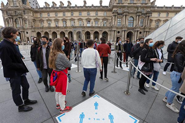 组图:法国疫情趋缓 卢浮宫重新对外开放
