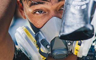 脸颊落下印记 台化学兵顶34度酷暑消毒获赞