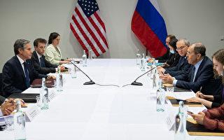 组图:美俄外长于冰岛举行双边会谈