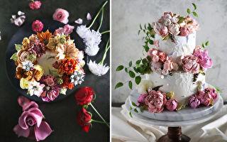 組圖:韓國蛋糕師夢幻般的花朵蛋糕 不忍吃