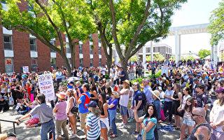 学校强制接种疫苗 新泽西州学生及家长抗议