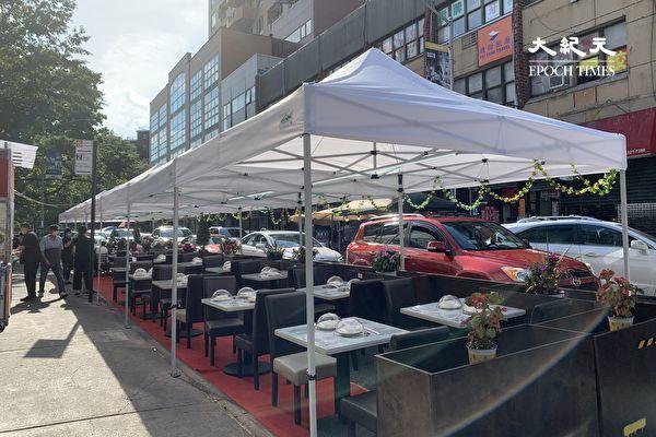 紐約市戶外用餐占8550個停車位