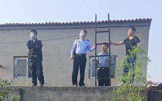 石家庄警察爬梯翻墙骚扰居民 被遏制