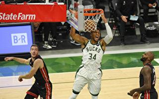 NBA雄鹿轰22记三分球  热火连败