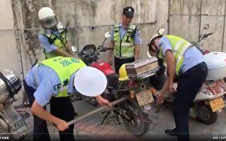 知情人:廣州收繳的摩托車部分被偷賣到非洲