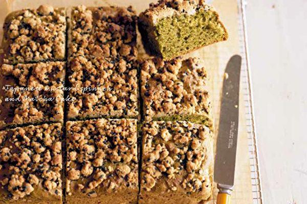 蔬食烘培的甜點 小松菜抹茶蛋糕素食也適合