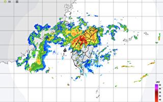 气象局:台湾西半部14县市豪雨、大雨特报