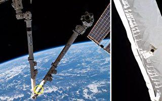 国际空间站主要机械臂被太空垃圾撞伤