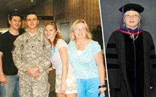 媽媽曾為撫養孩子輟學 60歲從法學院畢業