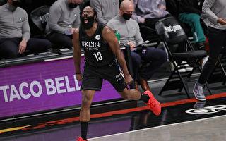 NBA哈登大三元送走绿衫军 篮网晋季后赛次轮