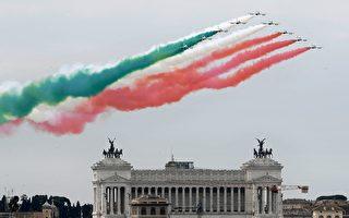 組圖:意大利慶祝共和國日 飛行隊表演特技