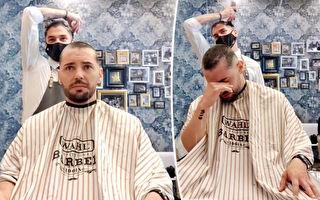 真诚友谊 四名发型师剃光头支持患癌好友