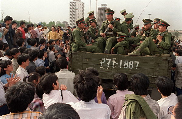 CHINA-BEIJING SPRING-TIANANMEN-SOLDIERS