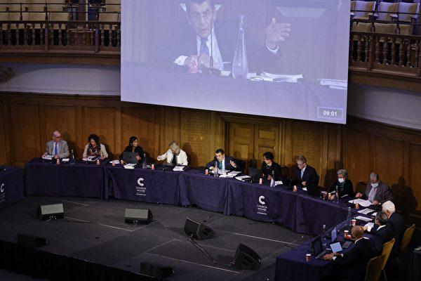 组图:维吾尔独立法庭伦敦开庭 听取证人证词