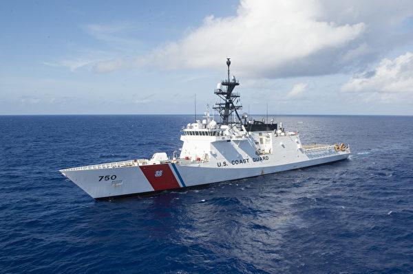 美國海岸警衛隊的傳奇級巡防艦貝托爾夫號(WMSL 750)參加了2018年7月29日的環太平洋軍演。(美國海岸警衛隊)