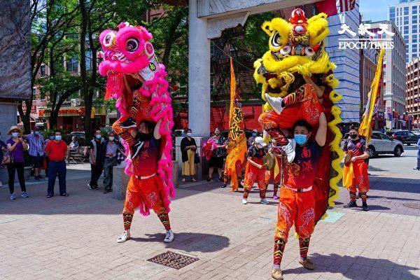 【视频】喜迎复苏 华埠6月每周六舞狮