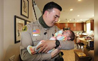 10天大的嬰兒被配方奶窒息 加州警官勇救