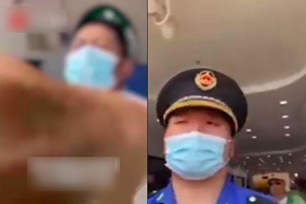 上海一商場未打疫苗禁止進入 城管配合攔人