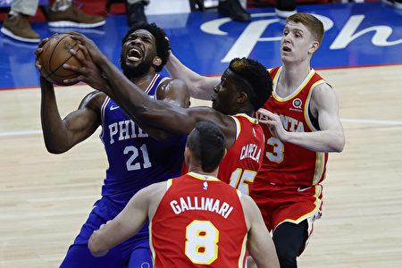 NBA恩比德轟40分 76人擊落老鷹